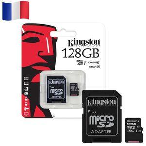 CARTE MÉMOIRE Carte mémoire Micro SD - KINGSTON 128GB 128GO SDHC