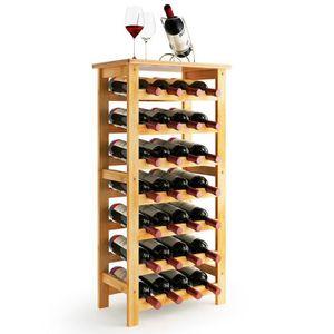 MEUBLE RANGE BOUTEILLE LANGRIA Étagère à vin - 28 Places - Meuble range b