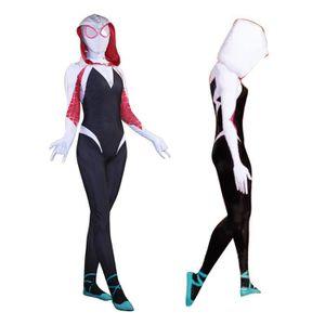 DÉGUISEMENT - PANOPLIE Super héros Spider Gwen Stacy Costume Cosplay Onés