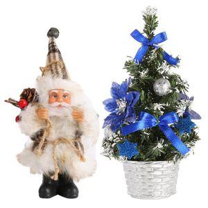 SAPIN - ARBRE DE NOËL Mini arbre de Noël vert artificiel   + figurine de