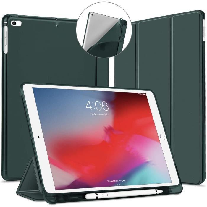 Coque pour iPad 9,7 2018 2017 / iPad Air 1 2 avec Pencil Holder, Étui Cover de Protection[Sommeil/Réveil Automatique], Souple25480