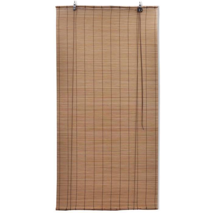 Magnifique Store enrouleur bambou brun 100 x 160 cm