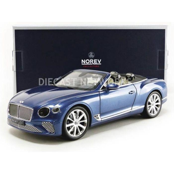 Voiture Miniature de Collection - NOREV 1/18 - BENTLEY Continental GTC - 2019 - Blue - 182785