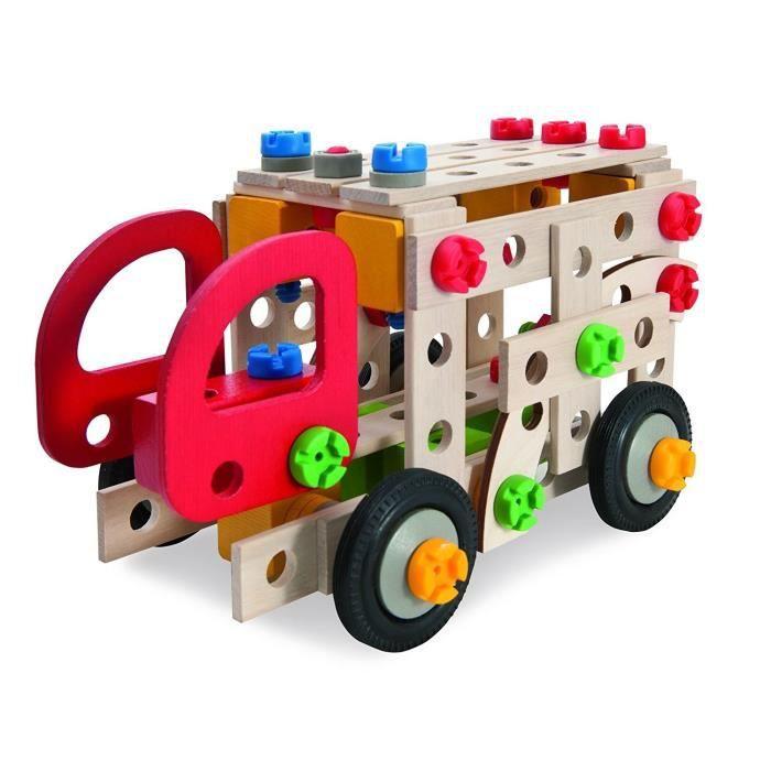 HEROS CONSTRUCTOR Camion de Pompier 155 pcs Bois