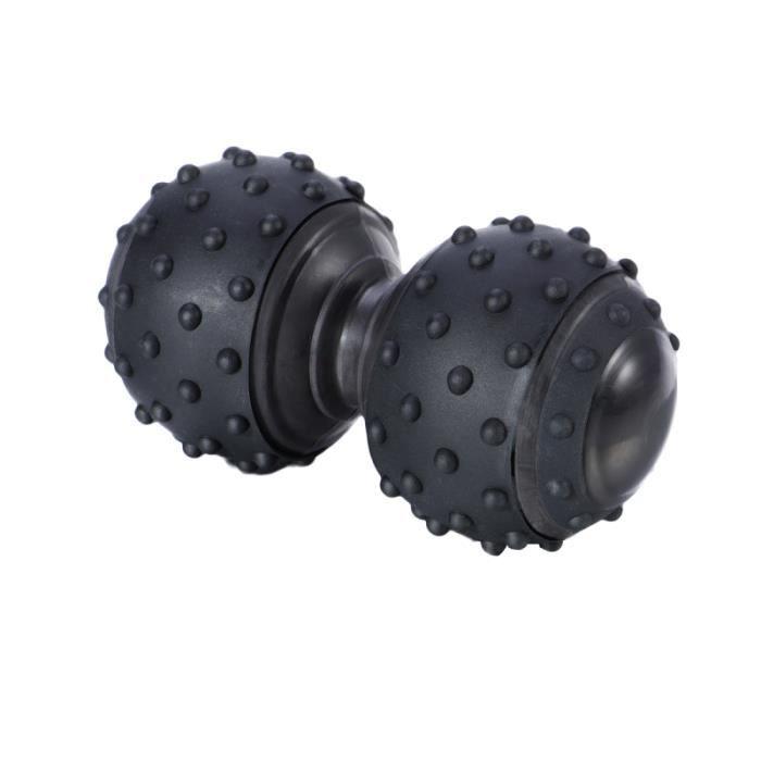 Balle de massage en silicone portative antidérapante à double boule de corporel pour soulager SWISS BALL - GYM BALL - SWISS BALL