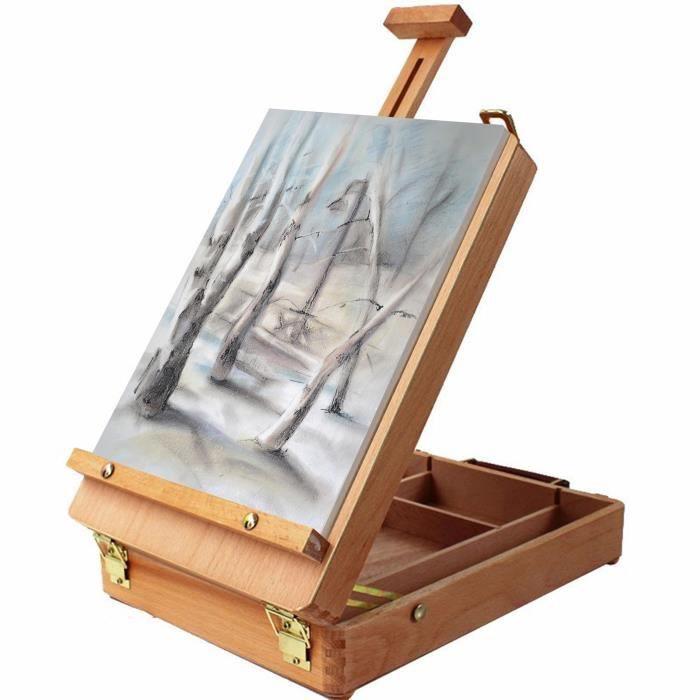 Chevalet - Chevalet de Table 36cm Set chevalet d'artiste multi-usage, Station de Travail pour la Peinture & le Dessin.