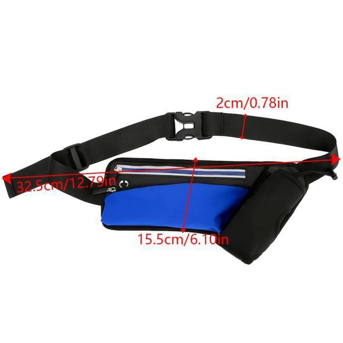 Qiilu sac de taille Unisexe Femmes Hommes Gym Sport Running En Plein Air Bouteille D'eau Taille Sac Pack