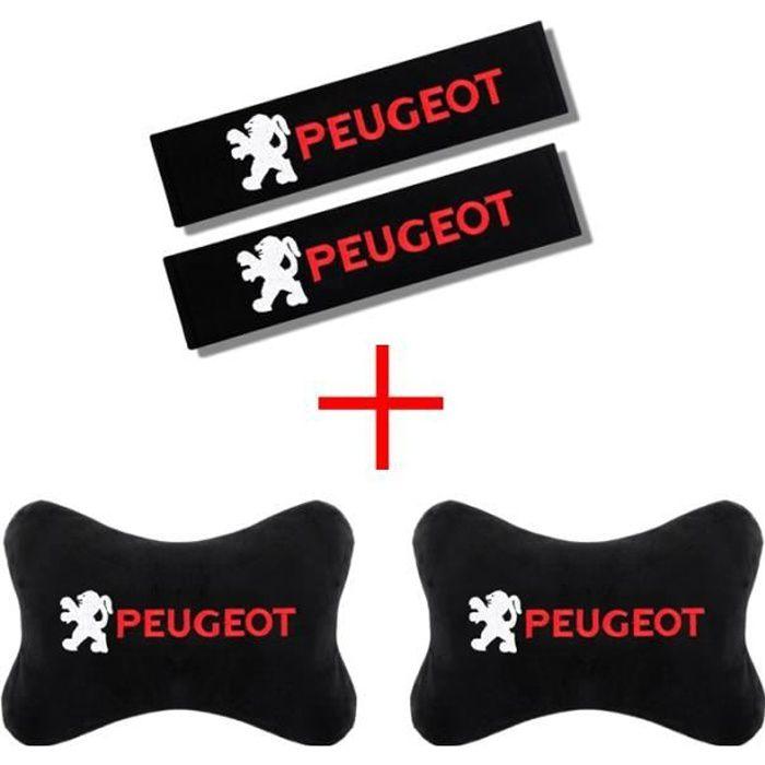 Housse De Siège,Nouveau voiture accessoires appuie tête et ceintures de sécurité confort protéger le cou pour Peugeot - Type 4pcs