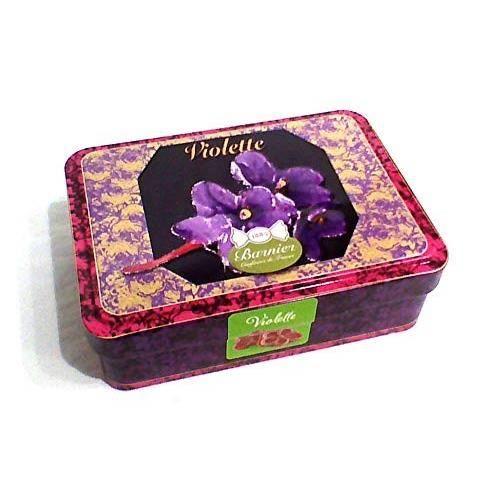 Boîte en fer Bonbons à la Violette 150g - BARNIER