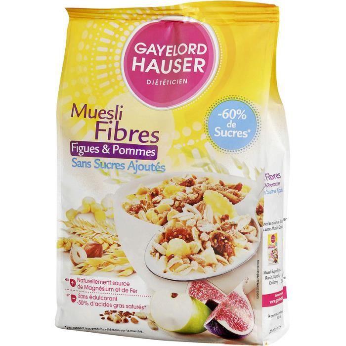 GAYELORD HAUSER Muesli fibres Figues et pommes 375g