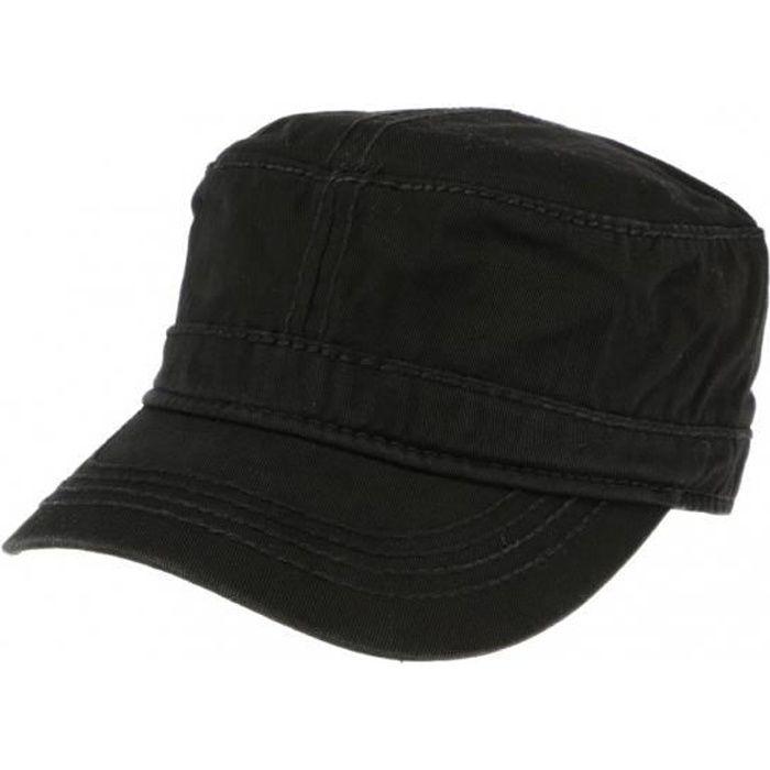 Casquette Militaire Noire Cliff - Noir - Taille unique