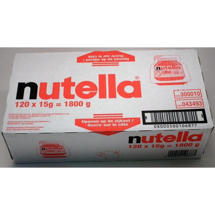 NUTELLA BARQUETTE 15gr CARTON 120 pcs