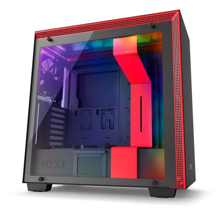NZXT Boitier PC Moyen Tour H700i Rouge/Noir - Fenêtre