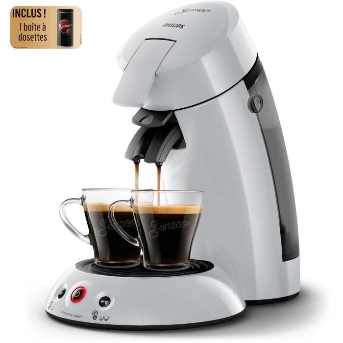 PHILIPS HD6554/53 SENSEO Original - Machine à café à dosettes + Boîte de rangement dosettes - Gris clair