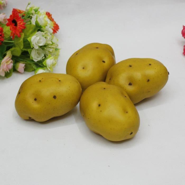 5 pièces Simulation Pommes de Terre Réaliste Adorable de Moule Photographie Accessoires Vitrine Décor pour Cuisine