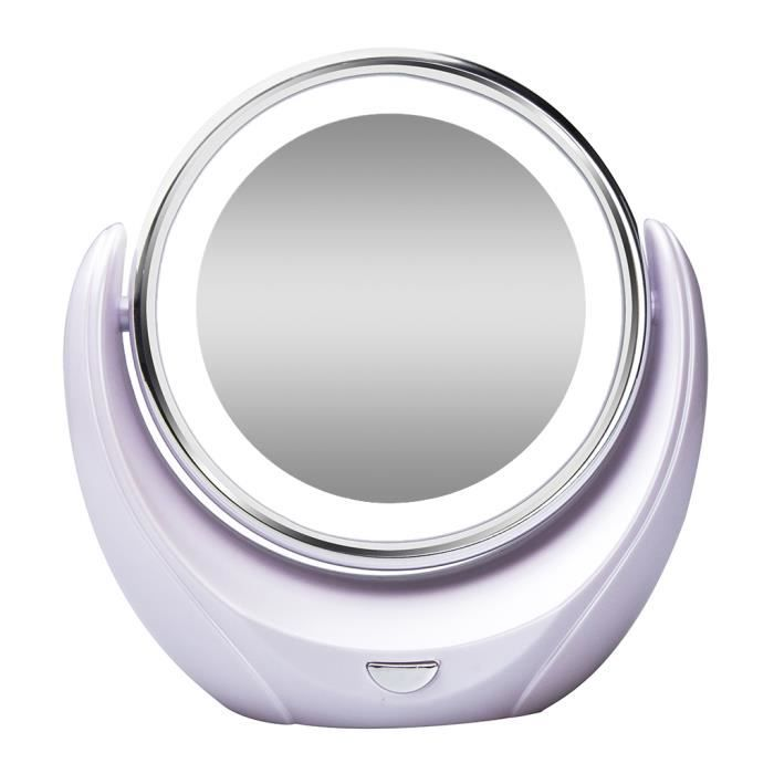 Orow miroir maquillage double visage led miroir 360 for Miroir definition