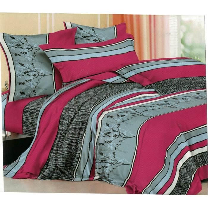 parure de draps 2 personnes 100 microfibre 140x190 achat vente parure de drap cdiscount. Black Bedroom Furniture Sets. Home Design Ideas