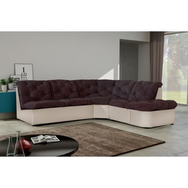 canap d 39 angle clac bicolore achat vente canap sofa. Black Bedroom Furniture Sets. Home Design Ideas