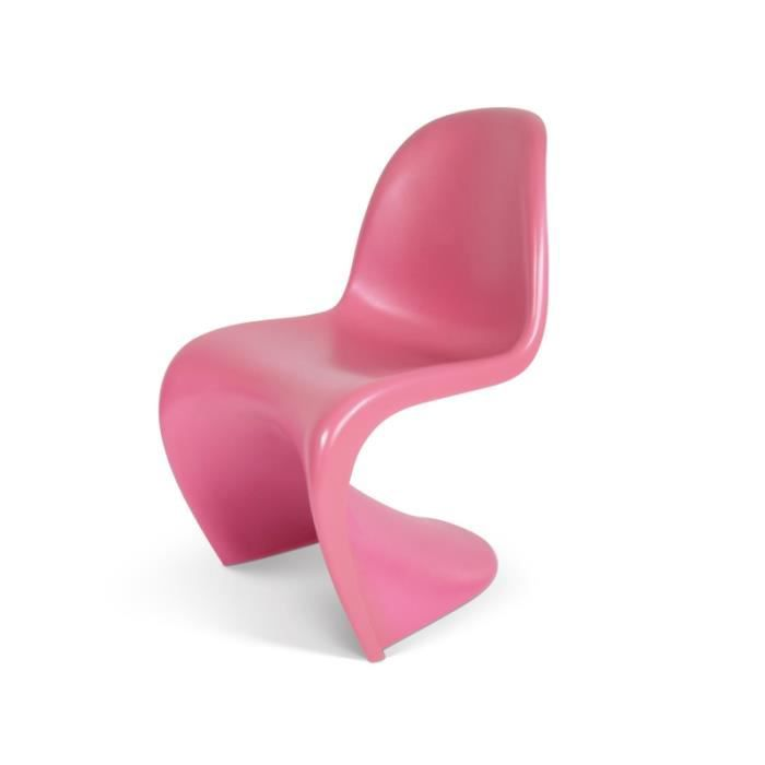 chaise enfant panton rose achat vente chaise cdiscount. Black Bedroom Furniture Sets. Home Design Ideas