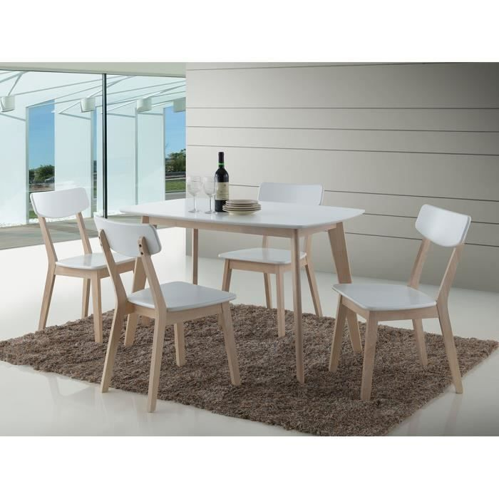 ensemble oslo blanc table de cuisine et salle manger design set compos d 39 une table et de 4. Black Bedroom Furniture Sets. Home Design Ideas