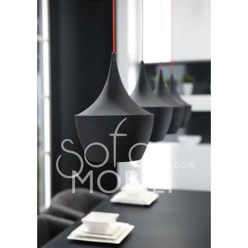 Luminaire suspension noir ou blanc 4 lampes design sibka for Lustre ou suspension