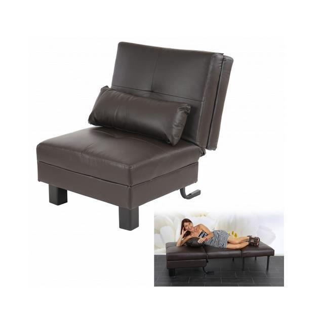 fauteuil canap relax manta convertible brun achat. Black Bedroom Furniture Sets. Home Design Ideas