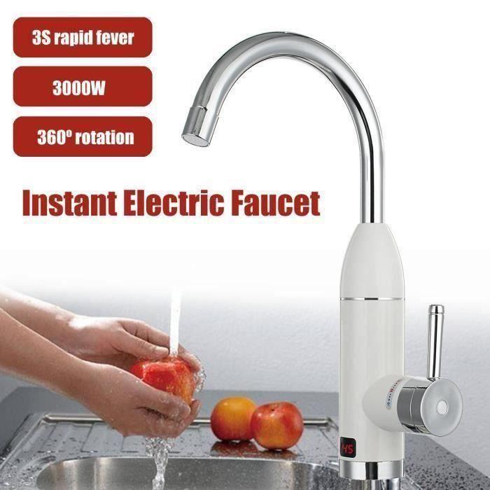 HOMELODY Robinet de Cuisine Affichage num/érique intelligent /écran LCD rotatif Mitigeur pour Evier chrom/é robinet de lavabo