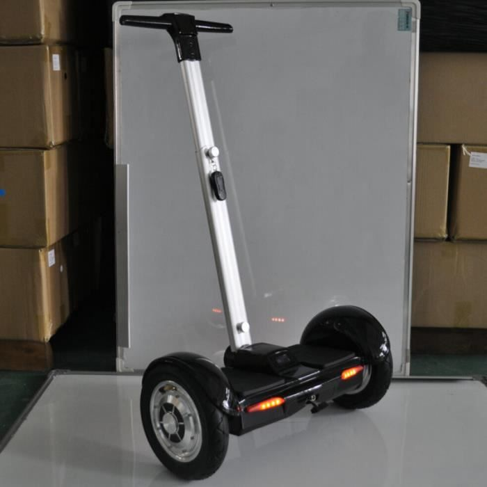 hot sale 10 pouces black scooter lectrique scooter deux hoverboard skateboard roue avec poign e. Black Bedroom Furniture Sets. Home Design Ideas