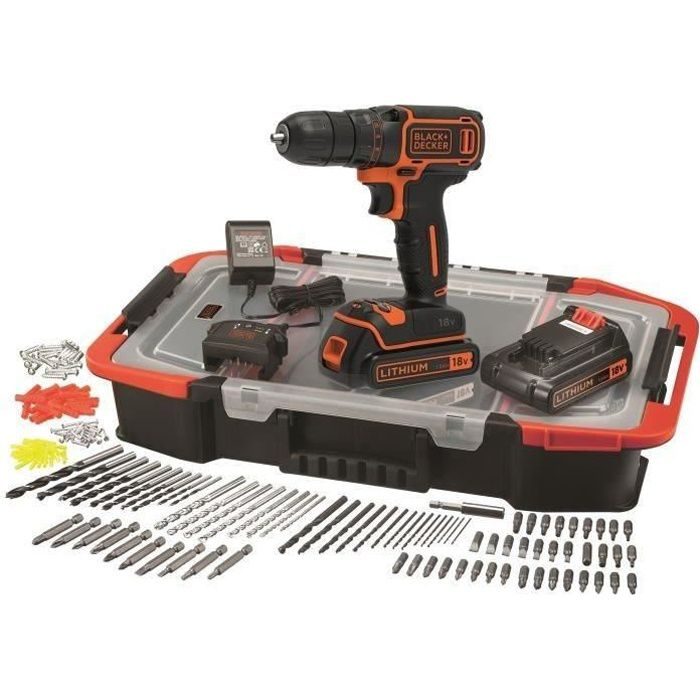Perceuse-visseuse sans fil - BLACK + DECKER - BDCDC18BAST-QW