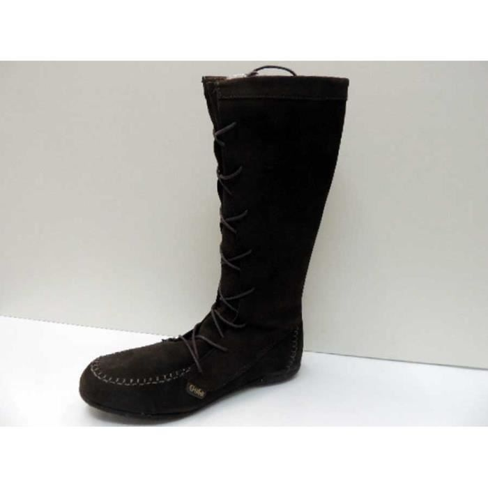 Bottes Cuir Gola Knot Brown Femme Pointure 36