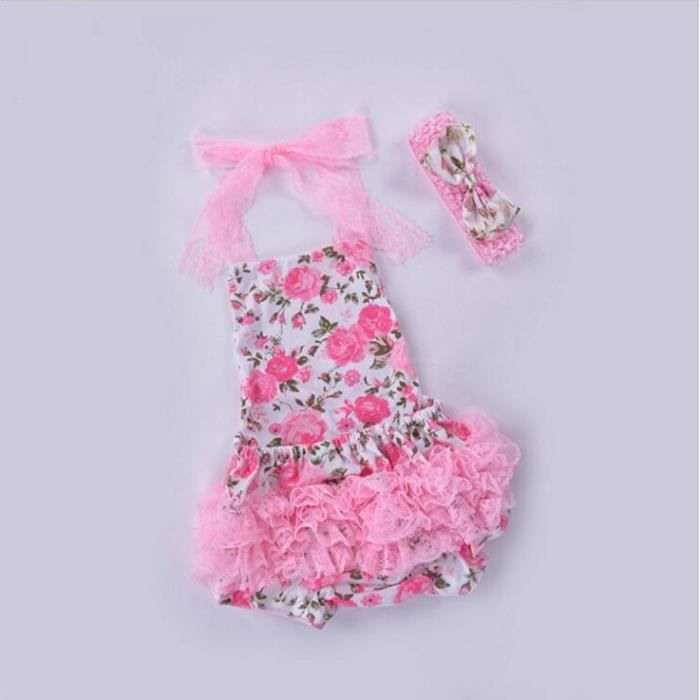 Robe parti b b fille plage b b barboteuse bandeau en mousseline de soie v tements pour b b s - Vetement bebe fille fashion ...