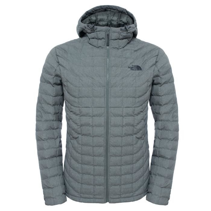 7c7400781d Veste à capuche The North Face Thermoball Hoodie Gris Gris - Achat ...