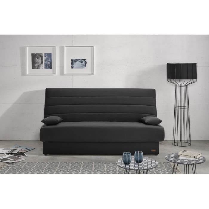 banquette clic clac 3 places matelas naturalex canap. Black Bedroom Furniture Sets. Home Design Ideas
