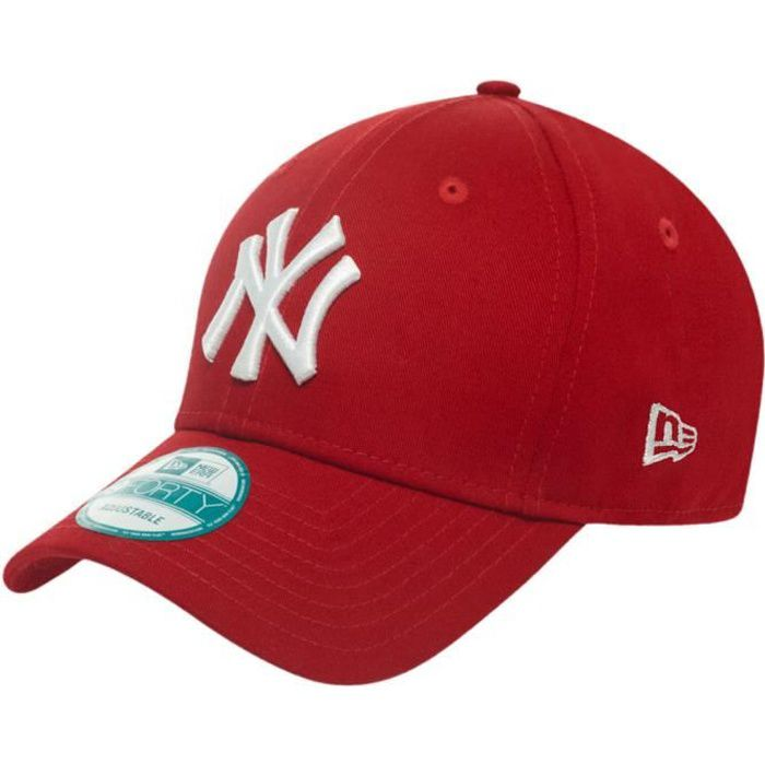 casquette homme new york rouge