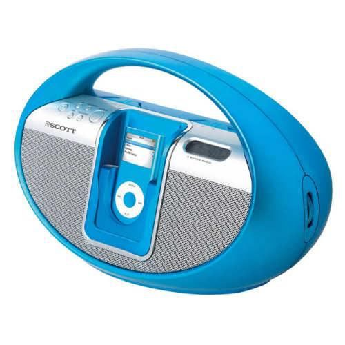 poste radio fm portable avec station ipod bleu radio cd cassette avis et prix pas cher. Black Bedroom Furniture Sets. Home Design Ideas
