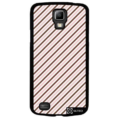coque samsung galaxy s4 active i9295 rayures marron rose. Black Bedroom Furniture Sets. Home Design Ideas
