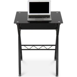 bureau informatique verre achat vente pas cher cdiscount. Black Bedroom Furniture Sets. Home Design Ideas