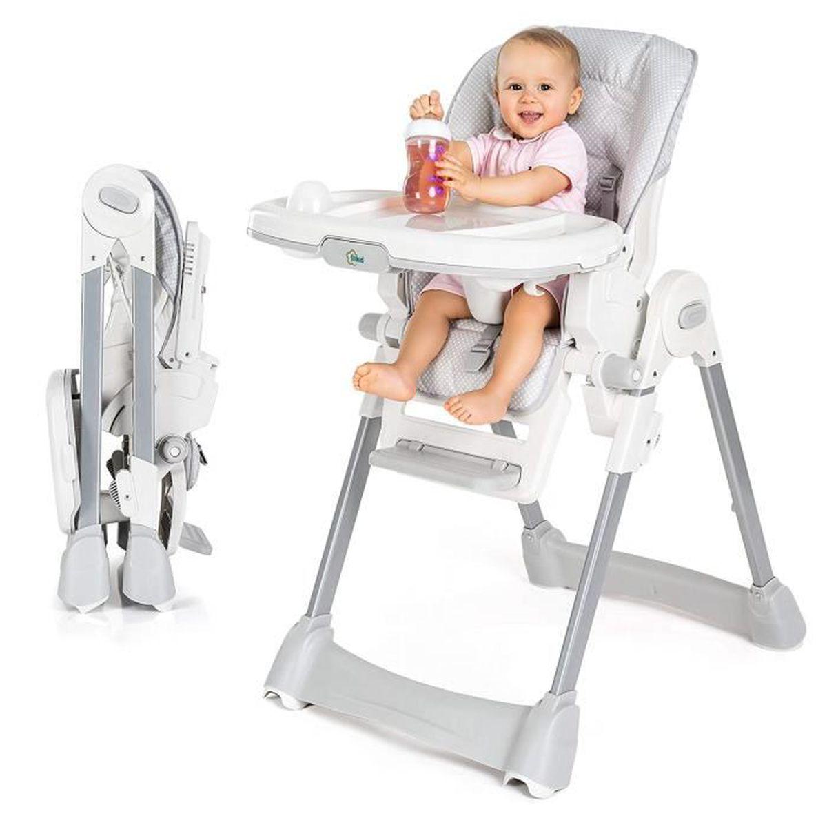 CHAISE HAUTE  Chaise haute bébé - évolutive avec Dossier inclina