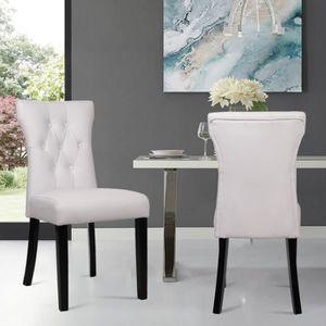 CHAISE Lot de 2 Chaises de salle à manger - Chaises de sa
