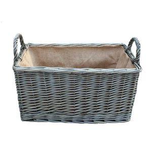 PANIER PIQUE-NIQUE Grand Antique Wash Hessois Doublé panier rectangul