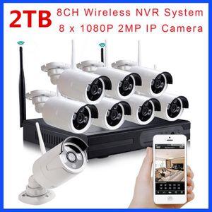 CAMÉRA DE SURVEILLANCE Système de vidéosurveillance sans fil 1080P 8CH HD