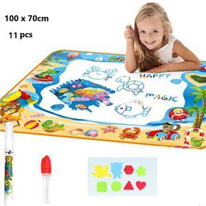 JEU DE PEINTURE 100*70 cm Tapis Aquadoodle Enfant,11pcs Tapis de D