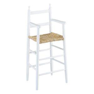 CHAISE HAUTE  Chaise haute pour enfant en hêtre laqué blanc e…