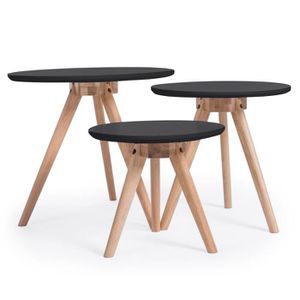 table basse ronde scandinave achat vente table basse. Black Bedroom Furniture Sets. Home Design Ideas