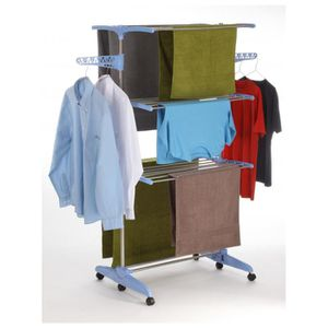 sechoir a linge a roulettes achat vente sechoir a. Black Bedroom Furniture Sets. Home Design Ideas