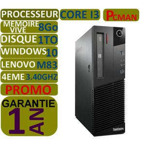 ORDI BUREAU RECONDITIONNÉ ORDINATEUR Pc Bureau  Lenovo thincentre m83 Core i