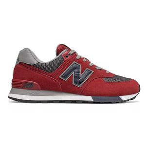 BASKET Baskets 574 bordeaux/gris / New Balance - Rouge-45