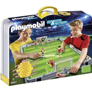 UNIVERS MINIATURE PLAYMOBIL 6857 Terrain de football transportable