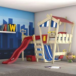 LIT COMBINE  Lit enfant avec toboggan - Lit mezzanine en plusie