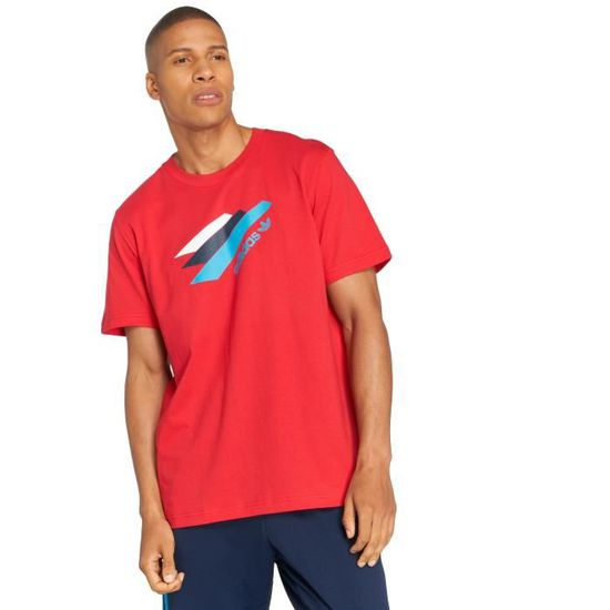 t shirt adidas homme rouge